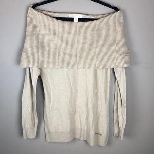 Michael Kors Caramel Off Shoulder Sweater